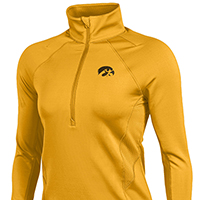 Iowa Hawkeyes Women's Verve 1/2 Zip Top-Gold