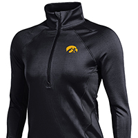 Iowa Hawkeyes Women's Verve 1/2 Zip Top-Black