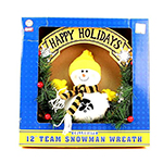 Iowa Hawkeyes Christmas Wreath