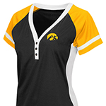 Iowa Hawkeyes Women's Baseball Jersey Tee