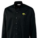 Iowa Hawkeyes Nailshead Long Sleeve Shirt-Black