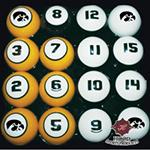 Iowa Hawkeyes Billiards Ball Set