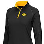 Iowa Hawkeyes Women's Prime 1/4 Zip Long Sleeve Tee