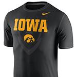 Iowa Hawkeyes Legends Icon Tee-Black