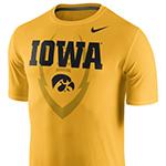 Iowa Hawkeyes Legends Icon Tee-Gold