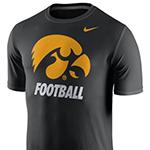 Iowa Hawkeyes Legends Logo Tee-Black