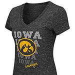 Iowa Hawkeyes Women's Delorean Tee-Black