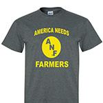 Iowa Hawkeyes Farm Strong Tee-Grey