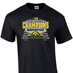 Iowa Hawkeyes West Division Champions Tee