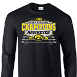 Iowa Hawkeyes West Division Champions Long-Sleeve Tee