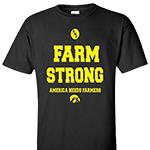 Iowa Hawkeyes ANF Farm Strong Tee-Black