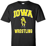 Iowa Hawkeyes Wrestling Herky Tee-Black