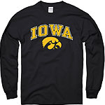 Iowa Hawkeye Long Sleeve Tee - Black