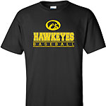 Iowa Hawkeye Baseball Bars Tee - Black