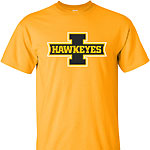 Iowa Hawkeye I Logo Tee - Gold