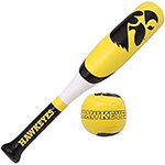 Iowa Hawkeyes Softee Ball and Bat Set