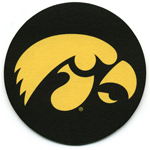 Iowa Hawkeyes 12 Pack Coasters