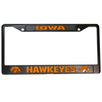 Iowa Hawkeyes Black License Plate Frame