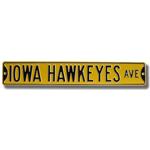 Iowa Hawkeyes Avenue Street Sign