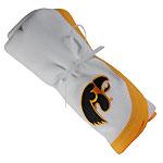 Iowa Hawkeyes White/Gold Receiving Blanket
