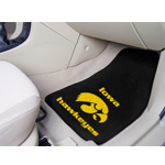 Iowa Hawkeyes 2 Piece Front Car Mats