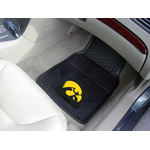 Iowa Hawkeyes Heavy Duty 2-Piece Vinyl Floor Mat