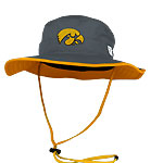 Iowa Hawkeyes Ultralight Boonie Hat - Dark Grey