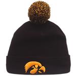 Iowa Hawkeyes Pom Knit Hat