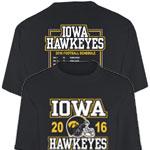 Iowa Hawkeyes 2016 Football Schedule Tee