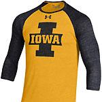 Iowa Hawkeyes Tri Blend Baseball Tee