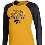 Iowa Hawkeyes Women's Baseball Tee