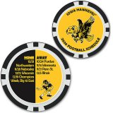 Iowa Hawkeyes 2020 Football Schedule Poker Chip