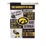 Iowa Hawkeyes Double Sided House Flag