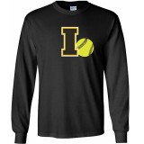 Iowa Hawkeyes Softball I Logo Ball Long Sleeve Tee