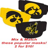 Iowa Hawkeyes 2 for $10 - Iowa Hawkeyes Face Coverings