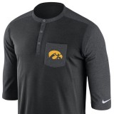 Iowa Hawkeyes Henley Top