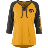 Iowa Hawkeyes Women's Skyler Lace Neck Tee