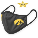 Iowa Hawkeyes Youth Striped Black Mask