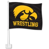 Iowa Hawkeyes Wrestling Car Flag