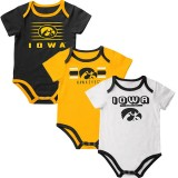 Iowa Hawkeyes Infant Sandcastle Onsie - 3 Pack