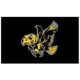 Iowa Hawkeyes Tigerhawk-Flying Herky Double Sided Flag