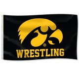 Iowa Hawkeyes Wresting Tigerhawk Flag