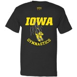 Iowa Hawkeyes Gymnastics Black Tee