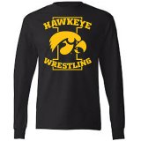Iowa Hawkeyes Wrestling Tigerhawk Tee - Long Sleeve