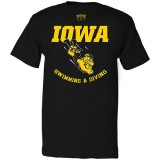 Iowa Hawkeyes Herky Swimming & Diving Tee