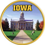 Iowa Hawkeyes Old Capitol Sign