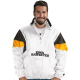 Iowa Hawkeyes White Starter Jacket
