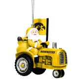 Iowa Hawkeyes Santa Riding Tractor Ornament