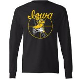 Iowa Hawkeyes Basketball Black Tee - Long Sleeve