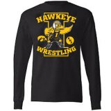 Iowa Hawkeyes Wrestler ANF Tee - Long Sleeve